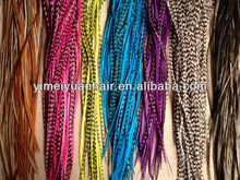 CYNOSURE Huge Lot of Grizzly Natural colored Synthetic Feather Hair Extension star style rainbow hair feathers wholesale