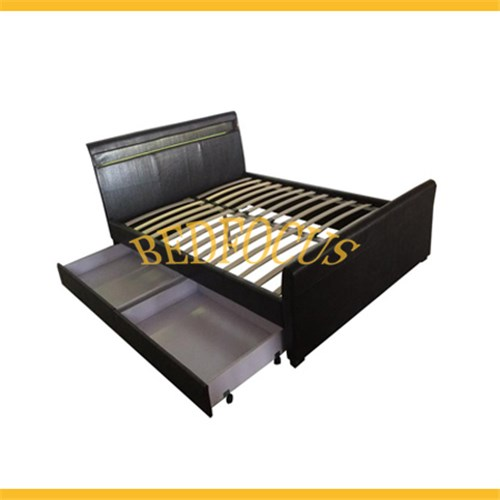 Storage Lether Bed